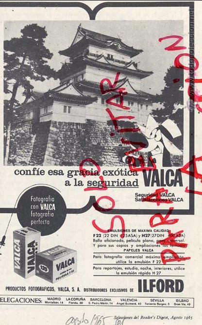 FOTOGRAFIA 1965 PELICULA VALCA E ILFORD HOJA LIBRITO (Coleccionismo - Revistas y Periódicos Antiguos (hasta 1.939))