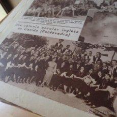 Collezionismo di Riviste e Giornali: 1933 CANIDO PONTEVEDRA GALICIA CORO GALLEGO SOCIEDAD ARTISTICA DE VIGO FOTO COLONIA INGLESA. Lote 49902743