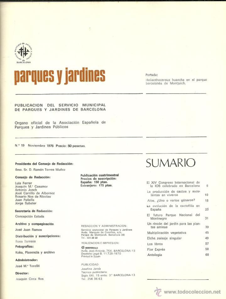 Revista parques y jardines de barcelona n 19 comprar for Parques y jardines de barcelona