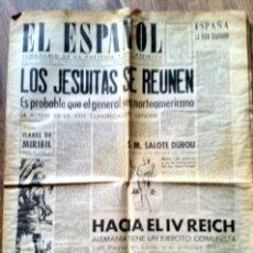 Coleccionismo de Revistas y Periódicos: HISTÓRICO PERIÓDICO EL ESPAÑOL | SEPTIEMBRE 1946 *IV REICH ALEMÁN* II GUERRA. Lote 49952952