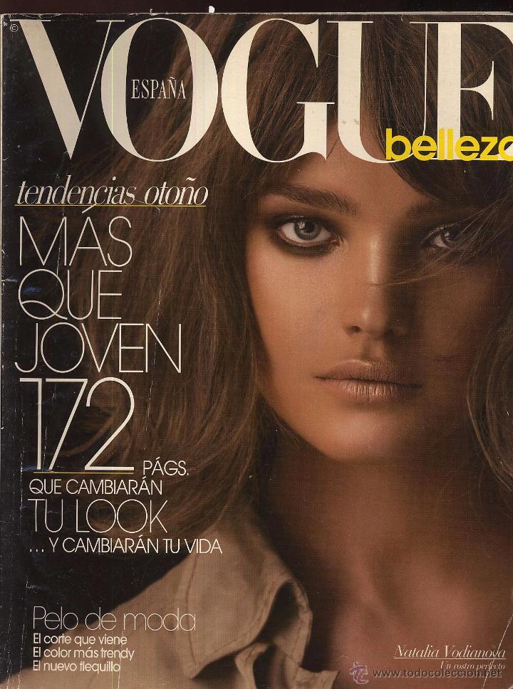 VOGUE BELLEZA NUMERO 22 ESPAÑA -CON NATALIA VODIANOVA EN PORTADA. ---------------- (REF M1 E4) (Coleccionismo - Revistas y Periódicos Modernos (a partir de 1.940) - Otros)