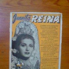 Coleccionismo de Revistas y Periódicos: JUANITA REINA, LETRAS DE SUS CANCIONES, AÑOS 40, 50. 16 PÁGINAS. Lote 50027777