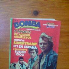 Coleccionismo de Revistas y Periódicos: REVISTA BOMBA Nº 3, REVISTA-COMIC AÑOS 70. SUPERTRAMP. POSTER MOTO SUZUKI 1000. FORMATO PEQUEÑO. Lote 50054960