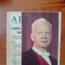 Coleccionismo de Revistas y Periódicos: REVISTA ABC NÚMERO EXTRAORDINARIO DE 1965 HOMENAJE A ALEMANIA. MÁS DE 100 PÁGINAS. Lote 50126606