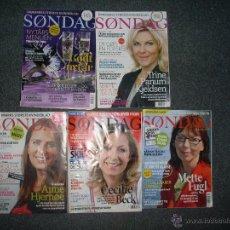 Coleccionismo de Revistas y Periódicos: LOTE 5 REVISTAS SONDAG. Lote 50147695