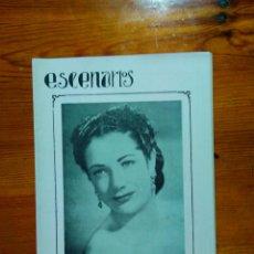 Coleccionismo de Revistas y Periódicos: REVISTA ESCENARIOS. ACTUALIDAD DE CINE Y OTROS ESPECTÁCULOS -VALENCIA 1948-. INTERESANTE. Lote 50154487