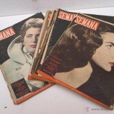 Coleccionismo de Revistas y Periódicos: REVISTAS SEMANA DESDE 1957. Lote 50213477