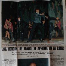 Coleccionismo de Revistas y Periódicos: ENTREVISTA DE PRENSA ORIGINAL DE 1979. LINA MORGAN: EL TEATRO SE APRENDE EN LA CALLE. Lote 50220502