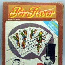 Coleccionismo de Revistas y Periódicos: POR FAVOR Nº 1 AÑO I ED PUNCH 1974 PÓSTER CENTRAL FORGES REVISTA TRANSICIÓN . Lote 50247937