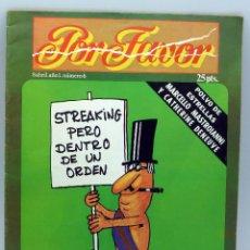 Coleccionismo de Revistas y Periódicos: POR FAVOR Nº 6 AÑO I ED PUNCH 1974 REVISTA TRANSICIÓN . Lote 50247949
