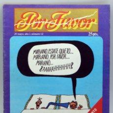 Coleccionismo de Revistas y Periódicos: POR FAVOR Nº 12 AÑO I ED PUNCH 1974 REVISTA TRANSICIÓN . Lote 50248002