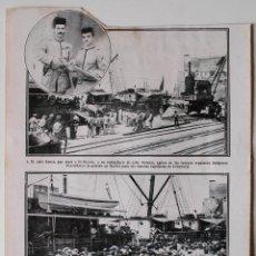 Coleccionismo de Revistas y Periódicos: HOJA DE REVISTA ORIGINAL AÑOS 20. CABO SANCA Y CABO PALOMO, FUERZAS INDIGENAS MELILLA. Lote 50282629