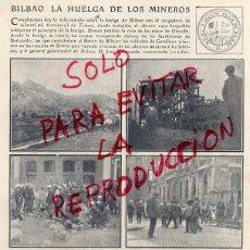 Coleccionismo de Revistas y Periódicos: BILBAO 1906 HUELGA DE MINEROS HOJA REVISTA. Lote 74692578