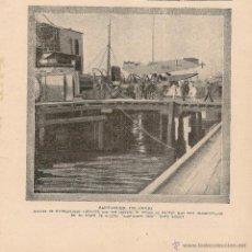 Colecionismo de Revistas e Jornais: * SANTANDER* LLEGADA DE HIDROAVIONES ALEMANES EN EL ALMIRANTE LOBO - 1920. Lote 50370667