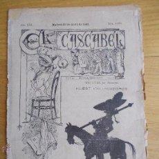 Collezionismo di Riviste e Giornali: REVISTA DEL AÑO 1891 EL CASCABEL CON GRABADOS. Lote 50378505