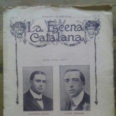 Coleccionismo de Revistas y Periódicos: LA ESCENA CATALANA Nº 133 / L'APOTECARI D'OLOT, ANY 1909 / TEATRE. Lote 50393314