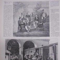 Coleccionismo de Revistas y Periódicos: CARLISMO GRABADO AÑO 1873.GUERRA CIVIL EL JEFE CARLISTA SAVALLS Y SU ESTADO MAYOR. MADRID REGRESO... Lote 50442452