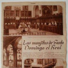 Coleccionismo de Revistas y Periódicos: REPORTAJE DE PRENSA ORIGINAL 1930, REVISTA ESTAMPA. LAS MONJITAS DE SANTO DOMINGO EL REAL, TOLEDO. Lote 50532374