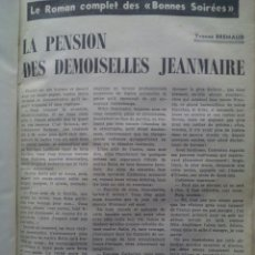 Coleccionismo de Revistas y Periódicos: LE ROMAN COMPLET. DES BONNES SOIRÉES / 21 REVISTAS ENCUADERNADAS SIN LAS TAPAS / 1953-54. Lote 50548033