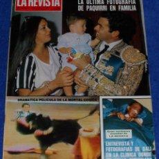 Coleccionismo de Revistas y Periódicos: LA REVISTA DEL MUNDO Nº 1 - MUERTE DE PAQUIRRI. Lote 50586049