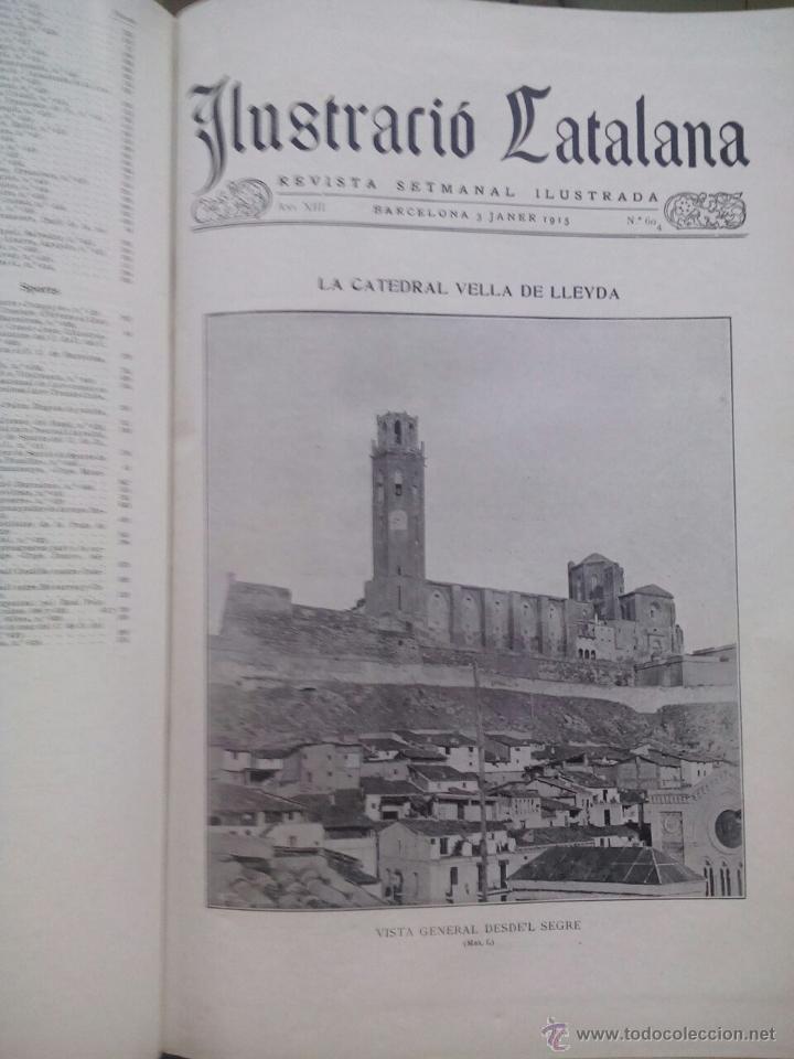 Coleccionismo de Revistas y Periódicos: ILUSTRACIÓ CATALANA / ANY 1915 / 37 EXEMPLARS ENCUADERNATS - Foto 2 - 50596786