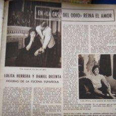 Coleccionismo de Revistas y Periódicos: RECORTES LOLA HERRERA. Lote 50609996