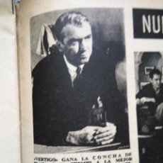 Coleccionismo de Revistas y Periódicos: RECORTES JAMES STEWART ALFRED HITCHCOCK SAN SEBASTIAN FESTIVAL. Lote 50610102
