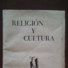 Coleccionismo de Revistas y Periódicos: RELIGIÓN Y CULTURA OCTUBRE 1957. Lote 50615970