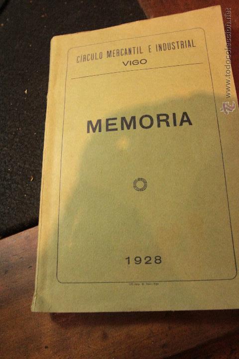 CIRCULO MERCANTIL E INDUSTRIAL, VIGO, MEMORIA 1928 - (Coleccionismo - Revistas y Periódicos Antiguos (hasta 1.939))