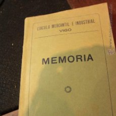 Coleccionismo de Revistas y Periódicos: CIRCULO MERCANTIL E INDUSTRIAL, VIGO, MEMORIA 1928 -. Lote 50747336