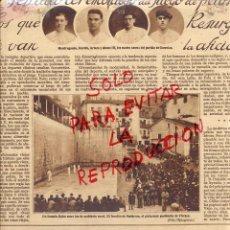 Coleccionismo de Revistas y Periódicos: ONDARROA 1928 FRONTON PELOTA VASCA HOJA REVISTA. Lote 50754798