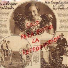 Coleccionismo de Revistas y Periódicos: VENDIMIA 1928 2 HOJAS REVISTA. Lote 50761337
