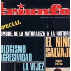 Coleccionismo de Revistas y Periódicos: TRIUNFO. Nº 409. 4 ABRIL 1970. (P/B2). Lote 50768647