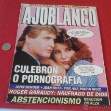 Coleccionismo de Revistas y Periódicos: REVISTA AJO BLANCO AJOBLANCO NUMERO 42 MAYO JUNIO 1992 CULEBRON O PORNOGRAFIA IDEAL COLECIONISTAS CO. Lote 50928810