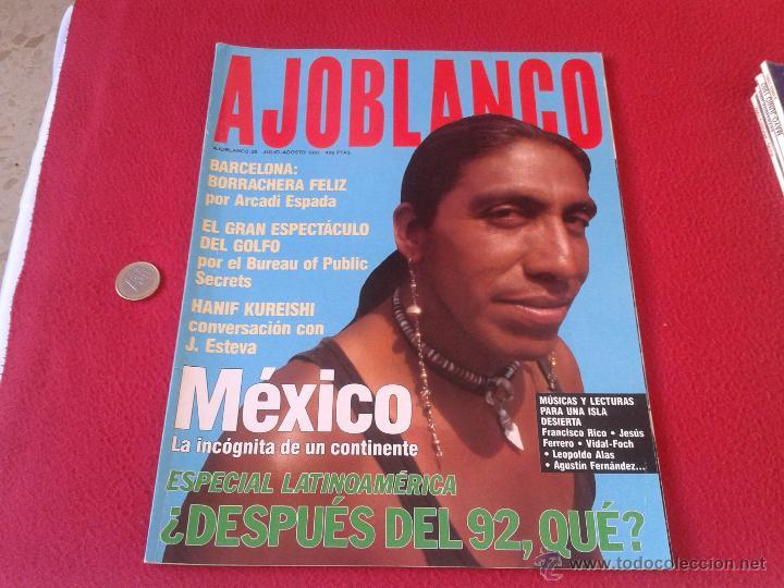 REVISTA AJO BLANCO AJOBLANCO NUMERO 35 JULIO AGOSTO 1991 MEXICO IDEAL COLECCION COLECCIONISTAS VER D (Coleccionismo - Revistas y Periódicos Modernos (a partir de 1.940) - Otros)