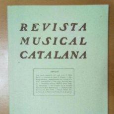 Coleccionismo de Revistas y Periódicos: REVISTA MUSICAL CATALANA Nº 386 FEBRER 1936 BUTLLETI DE L'ORFEO CATALA PUBLICIDAD DE EPOCA. Lote 51011778
