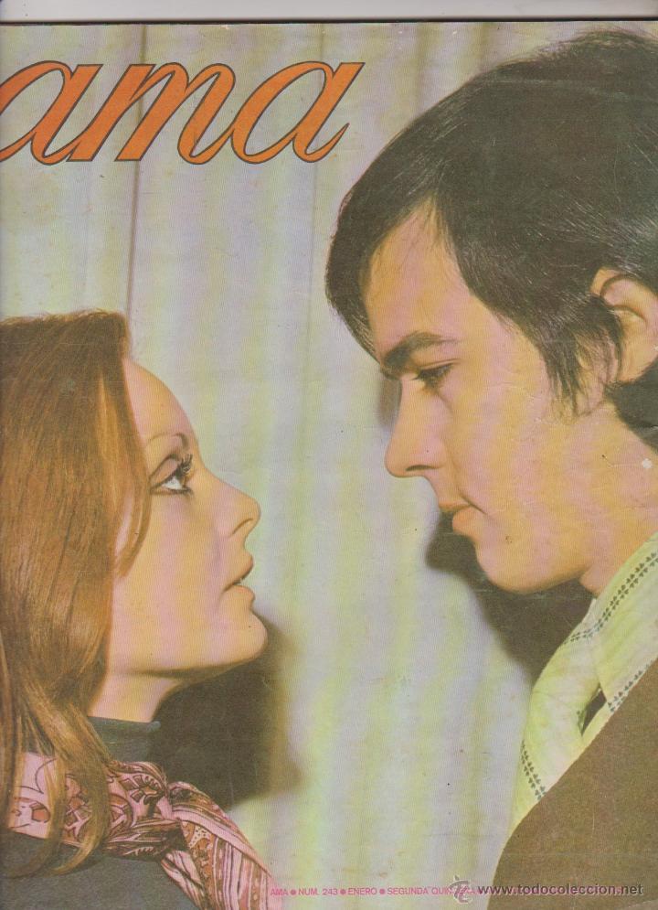 REVISTA AMA 1970 ROCIO DURCAL Y JUNIOR EN PORTADA (Coleccionismo - Revistas y Periódicos Modernos (a partir de 1.940) - Otros)