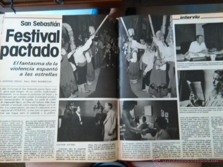 RECORTES SAN SEBASTIAN FESTIVAL DE CINE (Coleccionismo - Revistas y Periódicos Modernos (a partir de 1.940) - Otros)