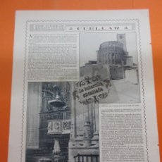 Coleccionismo de Revistas y Periódicos: FOTO REVISTA 1914 - CUELLAR SEGOVIA - 1 PAGINA. Lote 51073345