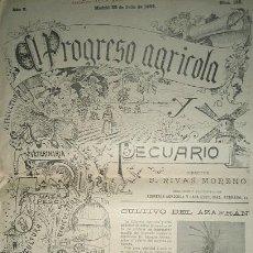 Coleccionismo de Revistas y Periódicos: EL PROGRESO AGRICOLA Y PECUARIO 1899 ALMERIA. Lote 51079328