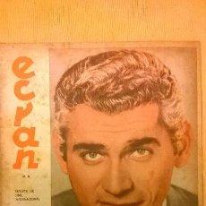 Coleccionismo de Revistas y Periódicos: ECRAN Nº 1457 - REVISTA DE CINE Y TV (ARNOUL, M. CLIFT, B. BARDOT, D.STOCKWELL, S. MONTIEL) - 1959. Lote 51081357