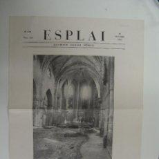 Collezionismo di Riviste e Giornali: HOJA DE ESPLAI ILUSTRACIO CATALANA SETMANAL LA CATEDRAL DEL PENEDES PROFANADA VILAFRANCA 1934. Lote 51105093