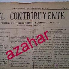 Coleccionismo de Revistas y Periódicos: CARLISMO,SANLUCAR DE BARRAMEDA,1892,PERIODICO EL CONTRIBUYENTE, DOS PAGINAS A CUATRO COLUMNAS. Lote 51119187