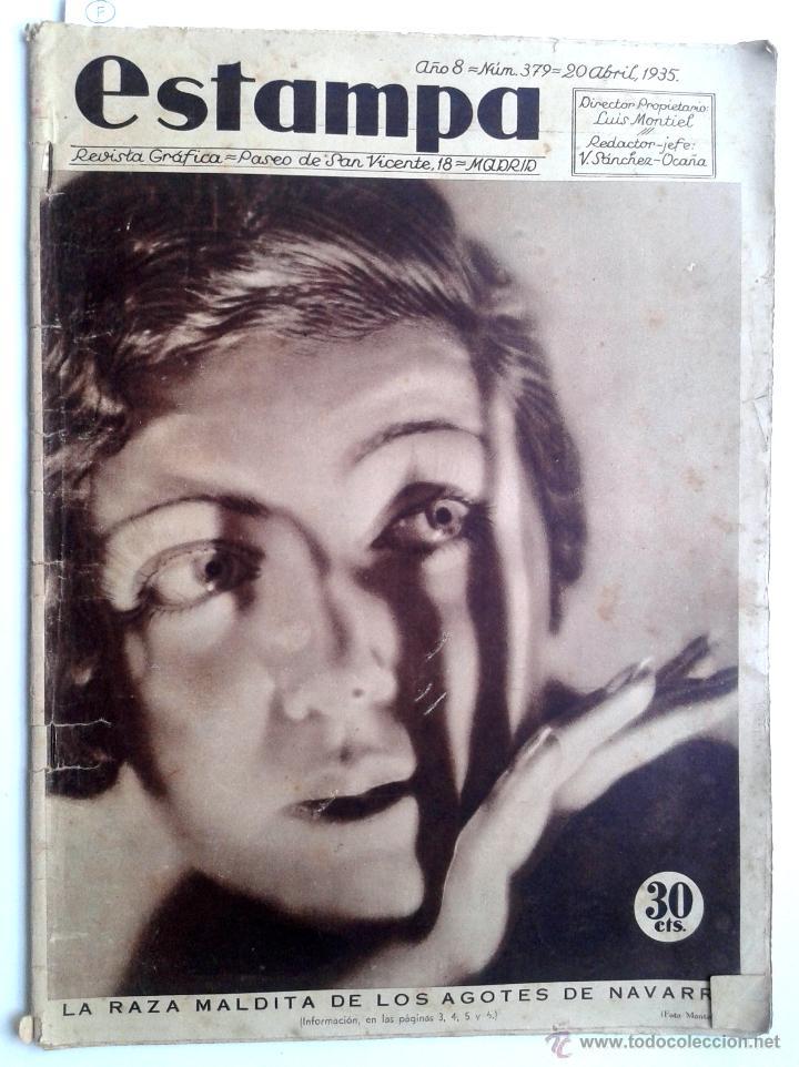 ESTAMPA Nº 379 - 20 ABRIL 1935 - NAVARRA - EXTREMADURA (Coleccionismo - Revistas y Periódicos Antiguos (hasta 1.939))