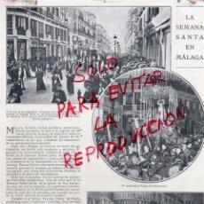 Coleccionismo de Revistas y Periódicos: MALAGA 1925 SEMANA SNATA HOJA REVISTA. Lote 51144779