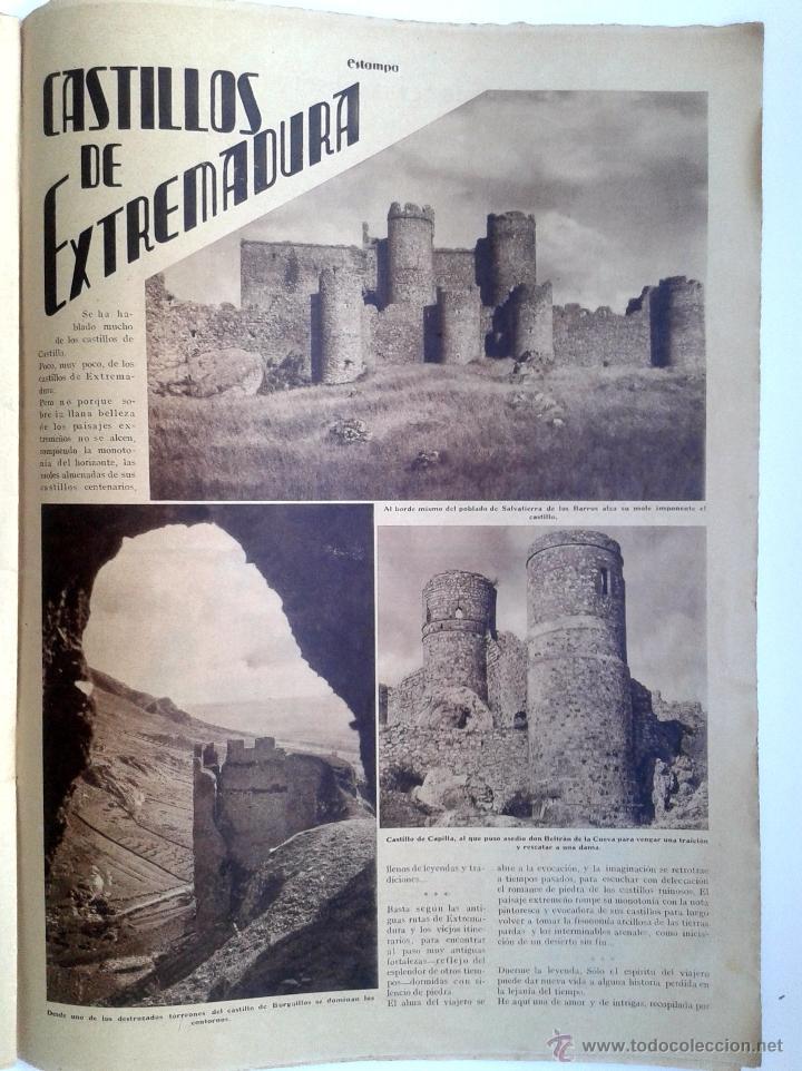 Coleccionismo de Revistas y Periódicos: ESTAMPA Nº 379 - 20 ABRIL 1935 - NAVARRA - EXTREMADURA - Foto 3 - 51128155