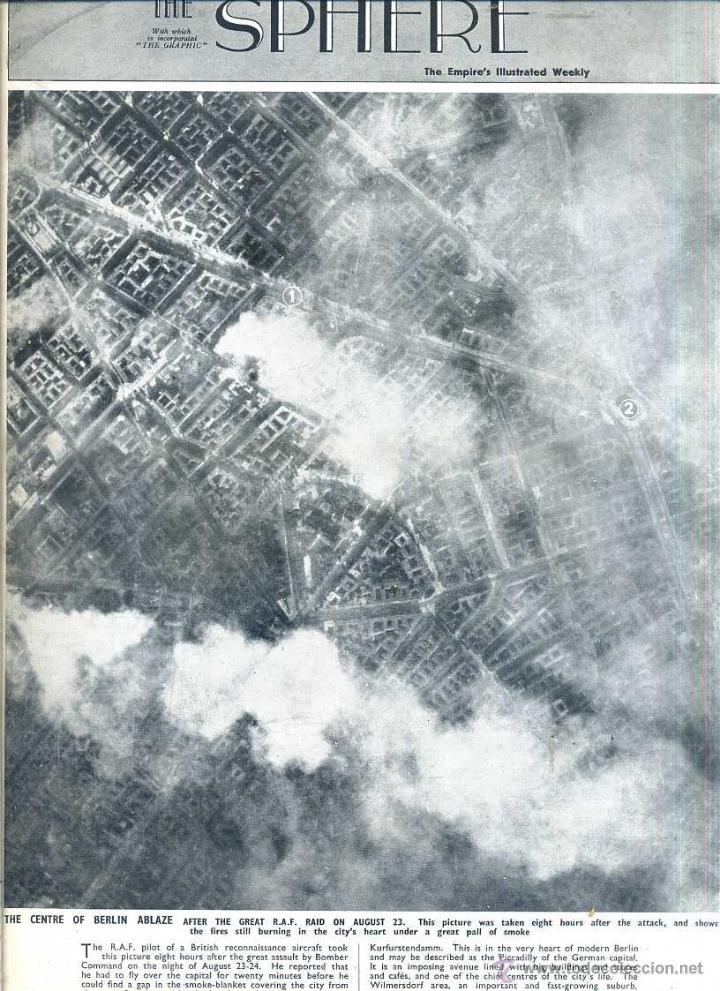 THE SPHERE SEPT. 4, 1943 - BERLIN - 2ª GUERRA MUNDIAL (Coleccionismo - Revistas y Periódicos Modernos (a partir de 1.940) - Otros)