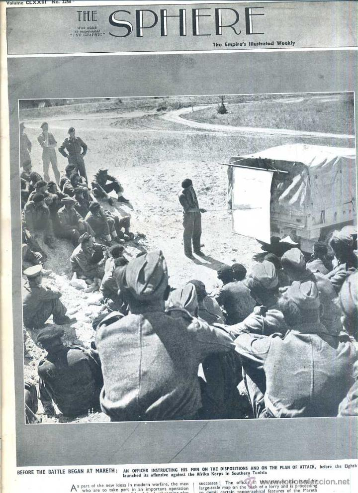 THE SPHERE 17 ABR. 1943 - AFRICA - 2ª GUERRA MUNDIAL (Coleccionismo - Revistas y Periódicos Modernos (a partir de 1.940) - Otros)