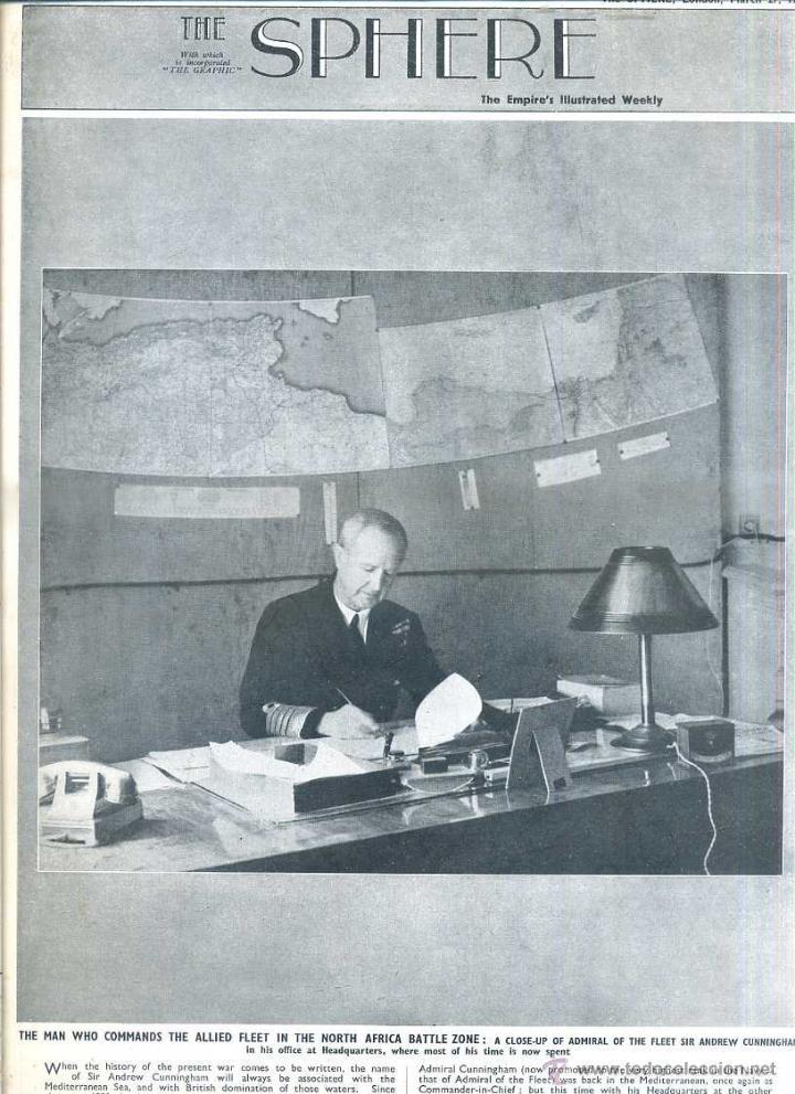 THE SPHERE 27 MAR. 1943 - AFRICA - 2ª GUERRA MUNDIAL (Coleccionismo - Revistas y Periódicos Modernos (a partir de 1.940) - Otros)