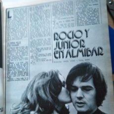 Coleccionismo de Revistas y Periódicos: RECORTE ROCIO DURCAL JUNIOR ANTONIO MORALES. Lote 51186861